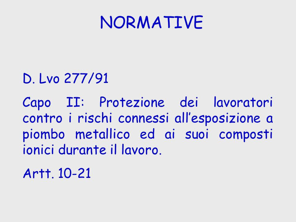 NORMATIVE D. Lvo 277/91.