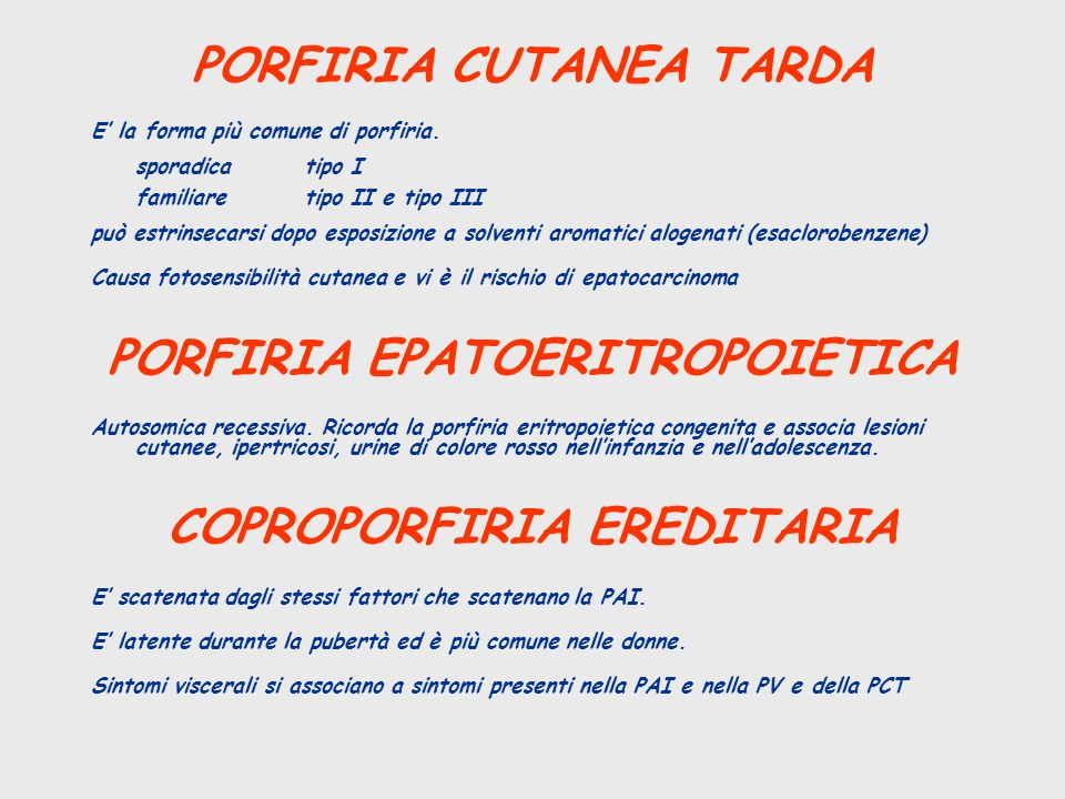 PORFIRIA CUTANEA TARDA