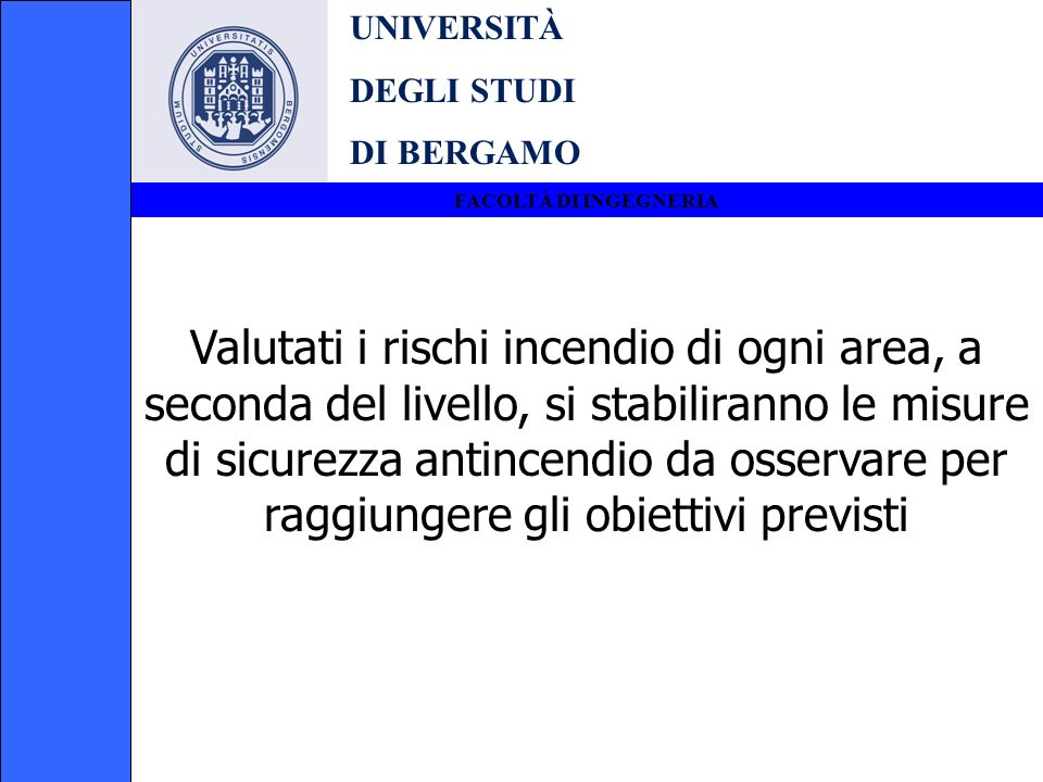 UNIVERSITÀ DEGLI STUDI. DI BERGAMO. FACOLTÀ DI INGEGNERIA.