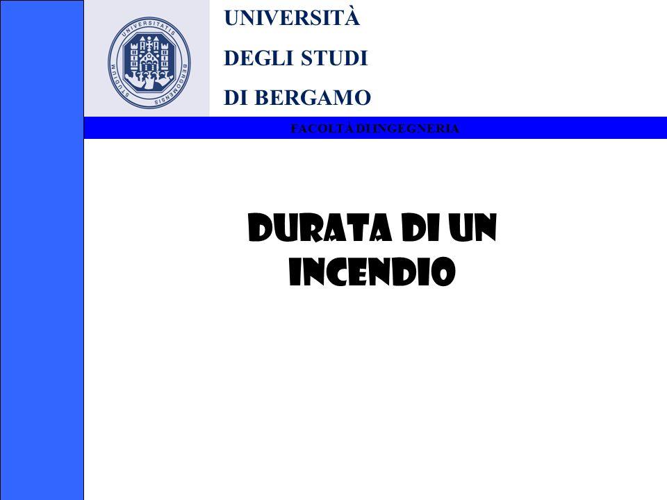 DURATA DI UN INCENDIO UNIVERSITÀ DEGLI STUDI DI BERGAMO