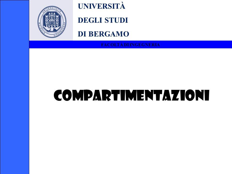 COMPARTIMENTAZIONI UNIVERSITÀ DEGLI STUDI DI BERGAMO