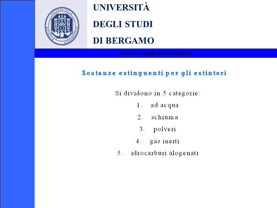 UNIVERSITÀ DEGLI STUDI DI BERGAMO FACOLTÀ DI INGEGNERIA
