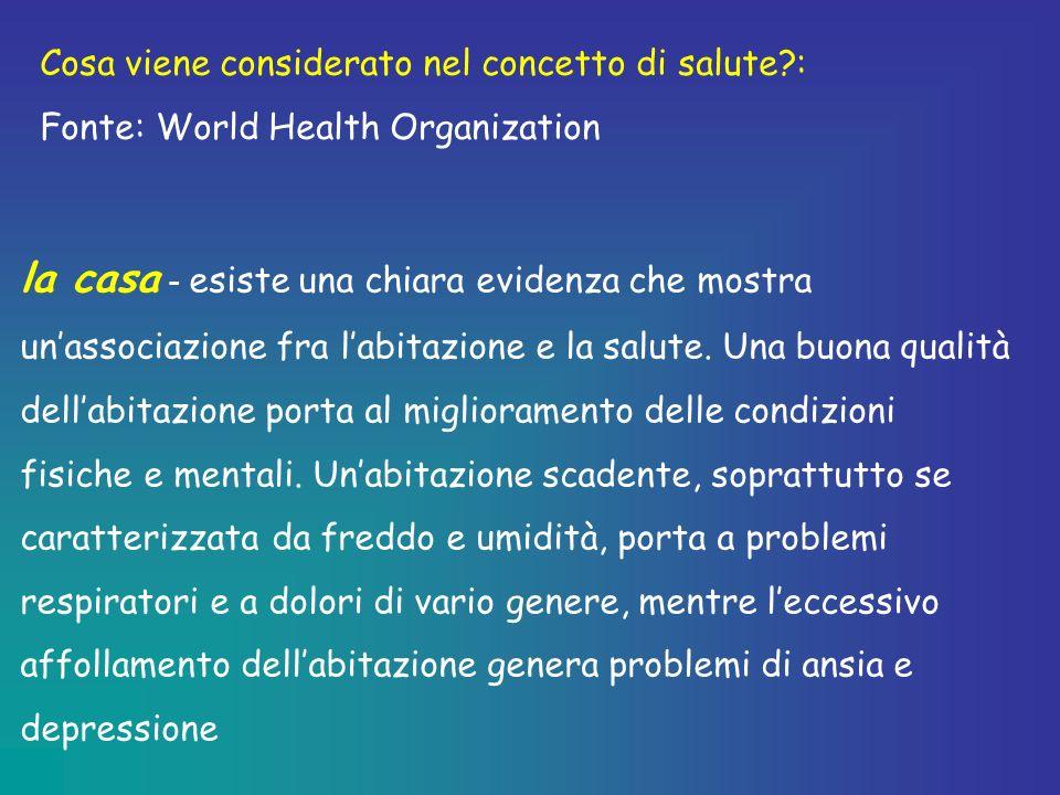 Cosa viene considerato nel concetto di salute :