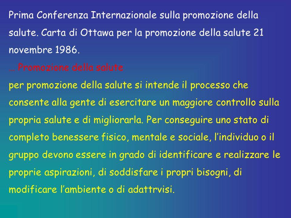Prima Conferenza Internazionale sulla promozione della salute