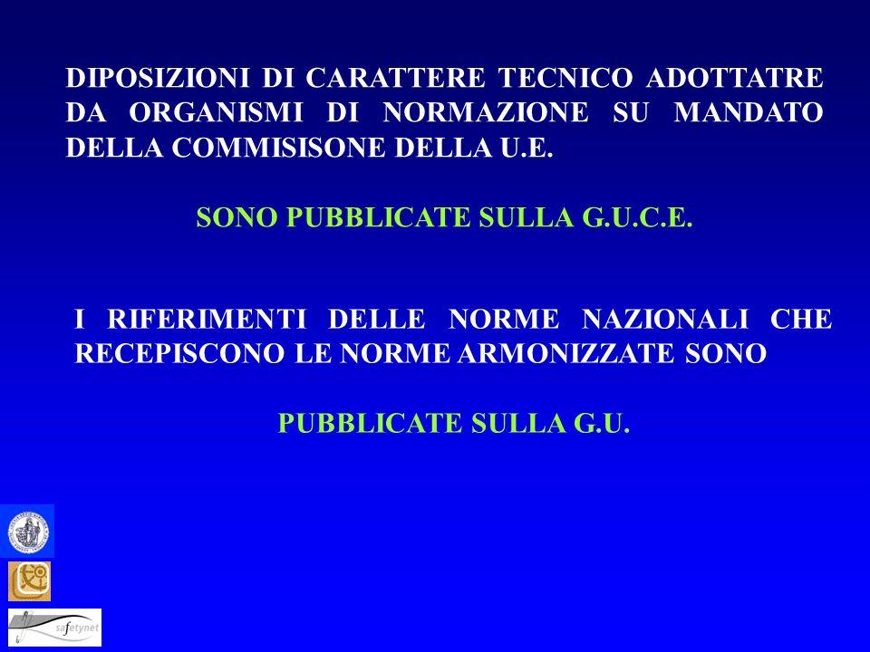 SONO PUBBLICATE SULLA G.U.C.E.