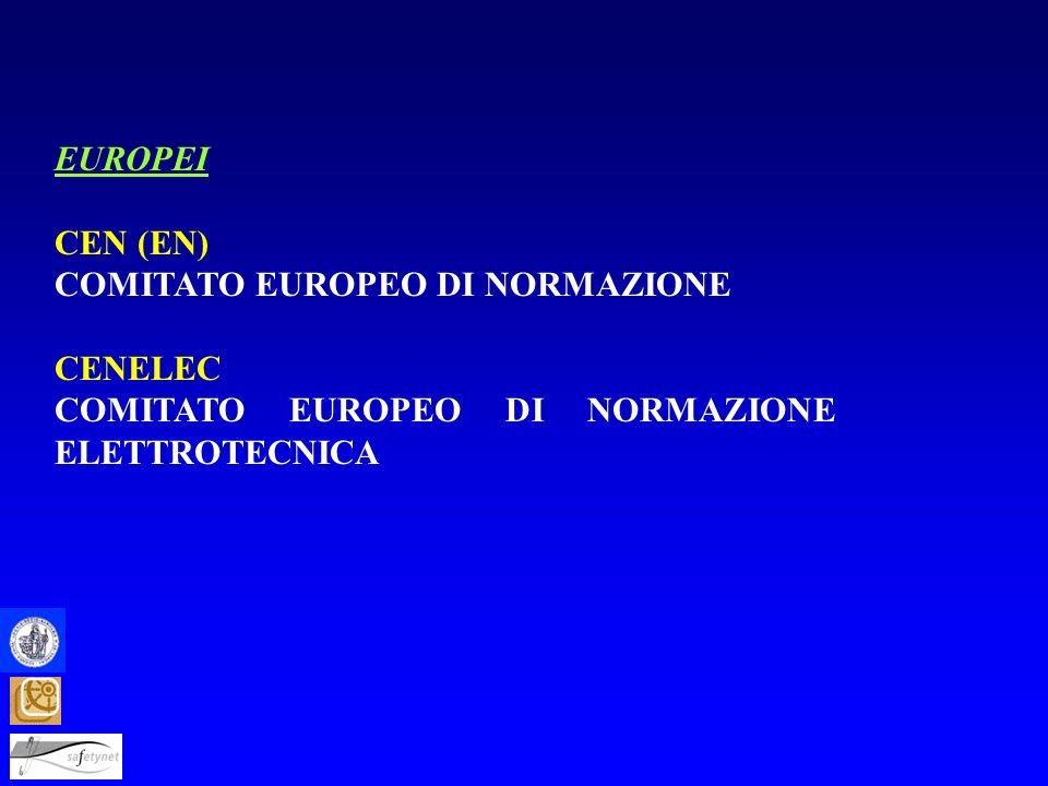 EUROPEI CEN (EN) COMITATO EUROPEO DI NORMAZIONE.