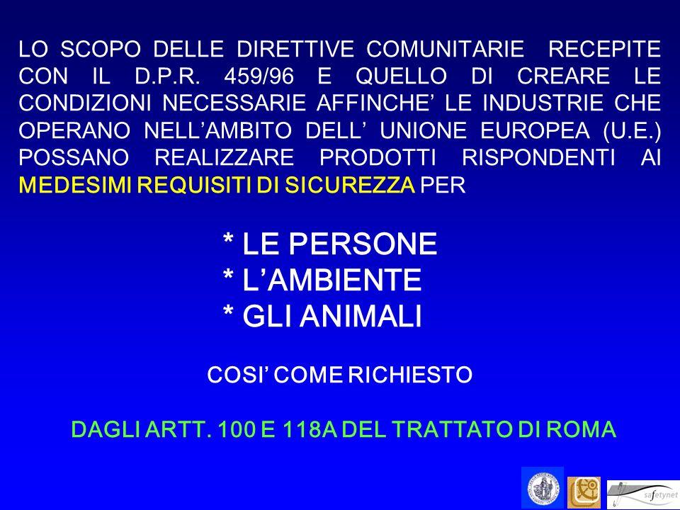 DAGLI ARTT. 100 E 118A DEL TRATTATO DI ROMA
