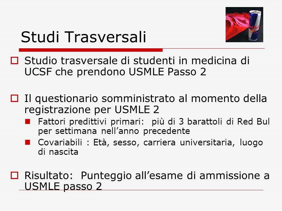 Studi Trasversali Studio trasversale di studenti in medicina di UCSF che prendono USMLE Passo 2.