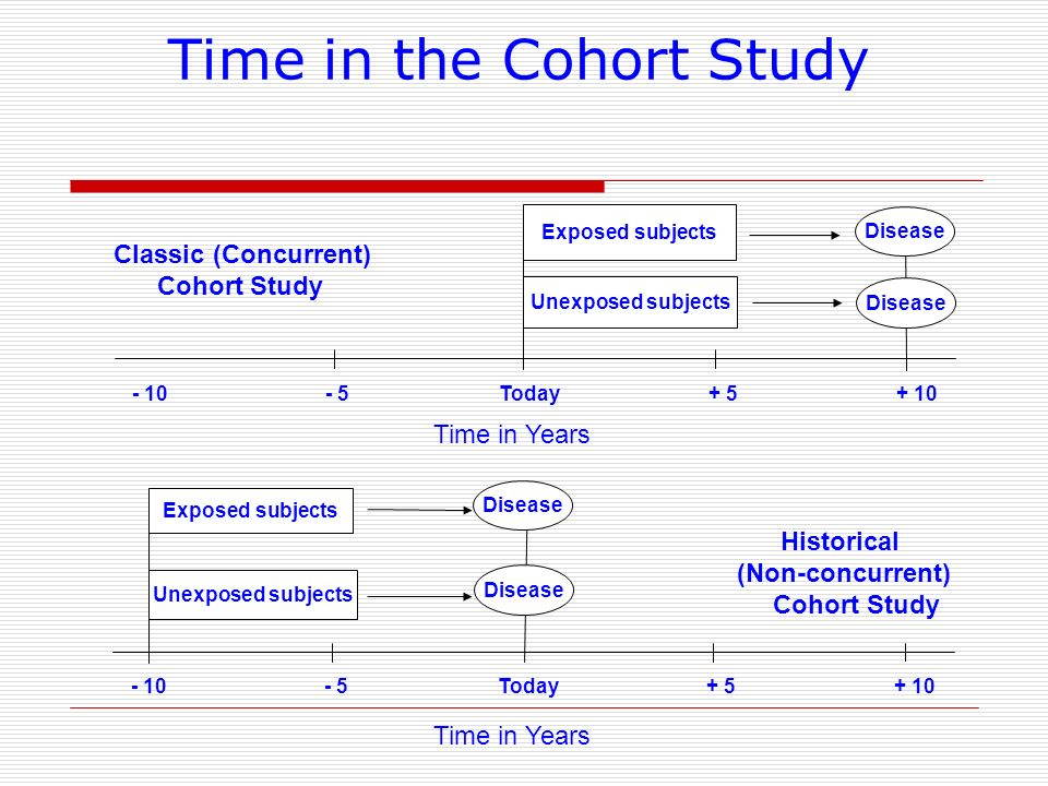 Time in the Cohort Study