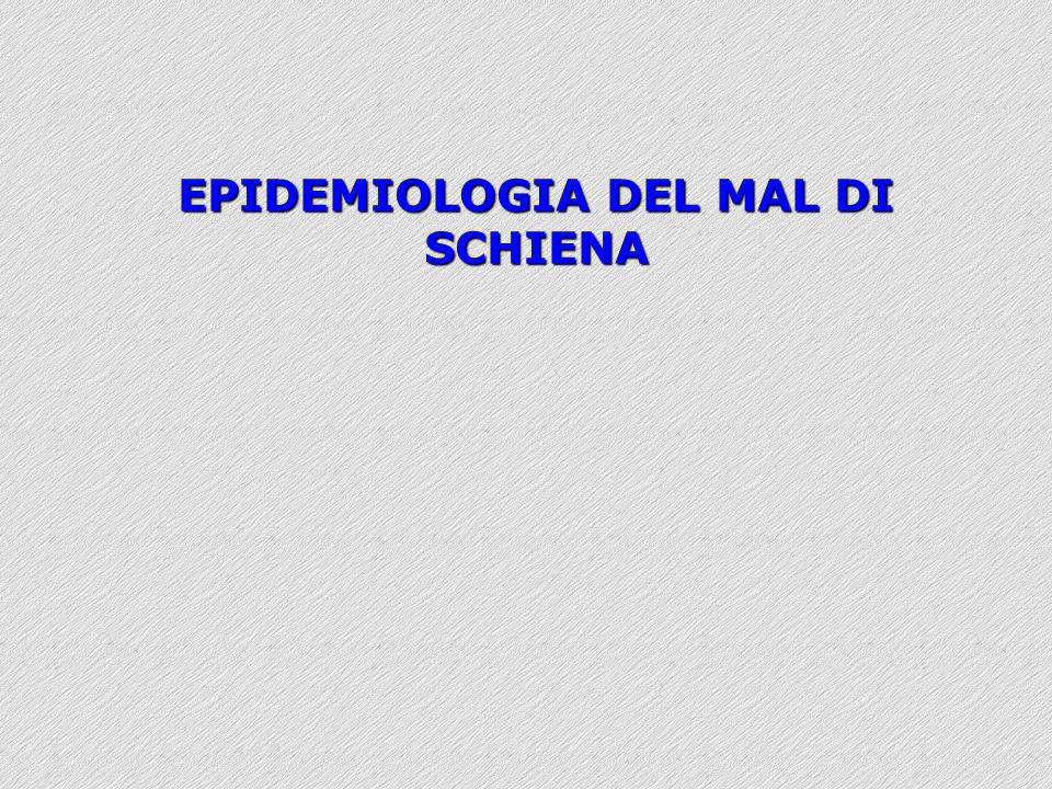 EPIDEMIOLOGIA DEL MAL DI