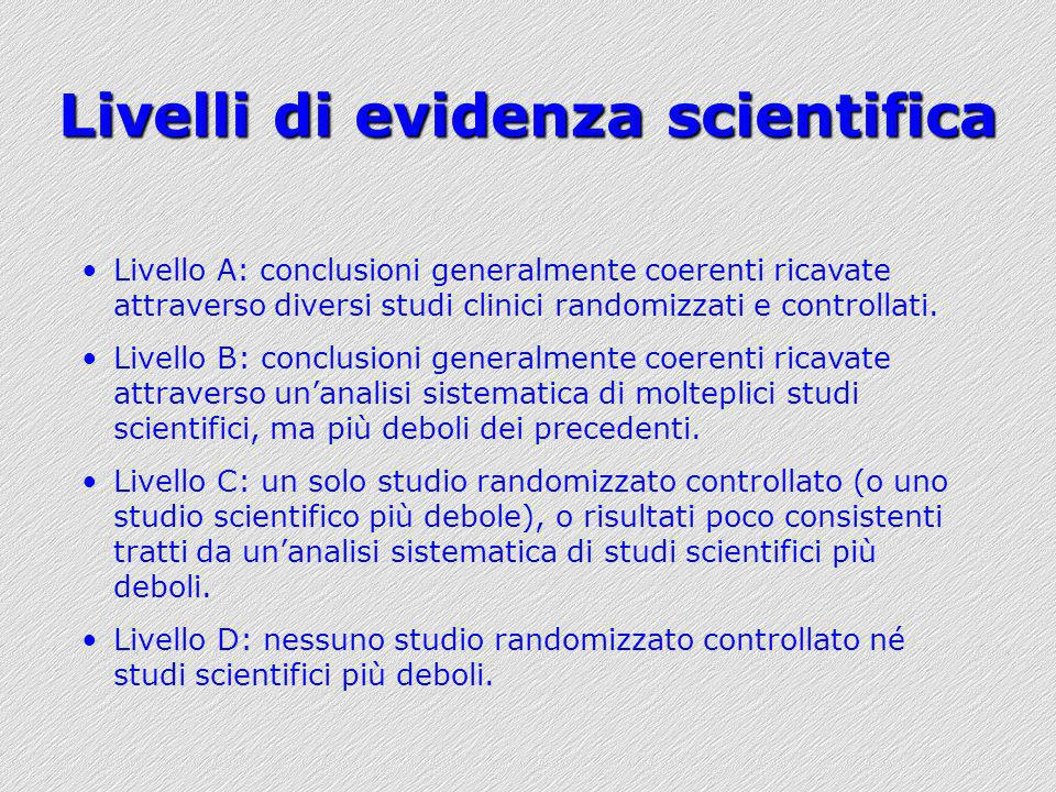 Livelli di evidenza scientifica