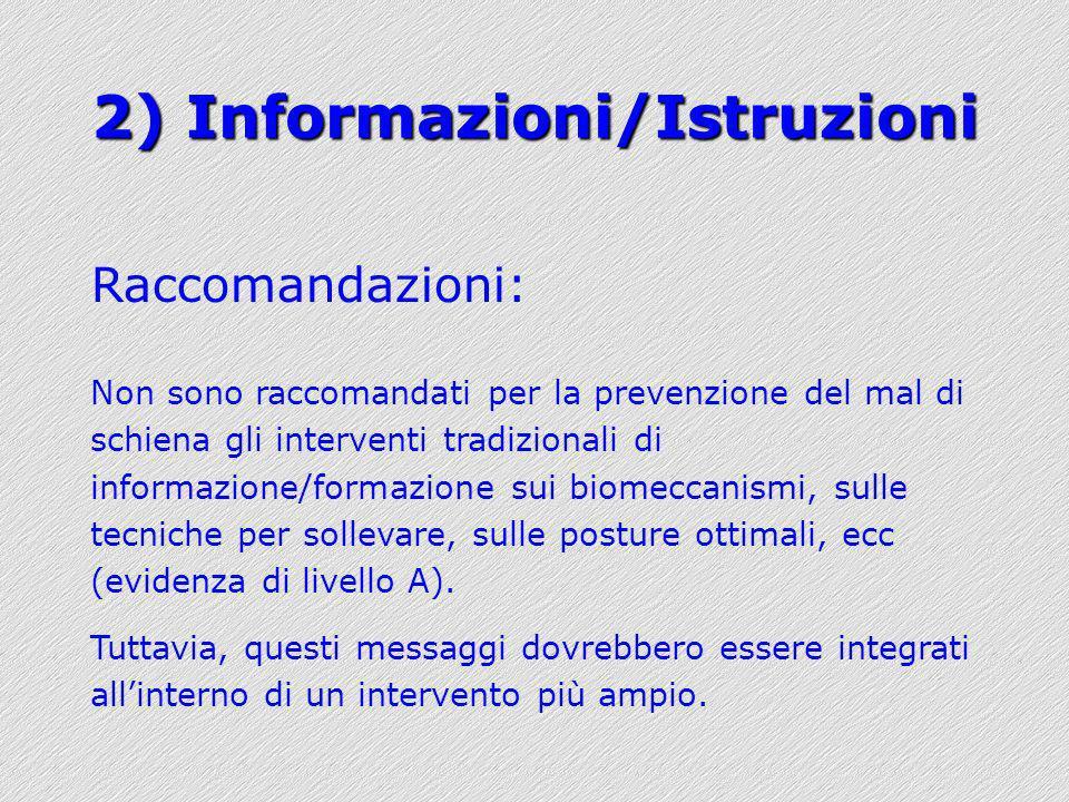 2) Informazioni/Istruzioni