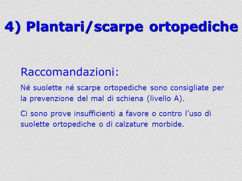 4) Plantari/scarpe ortopediche