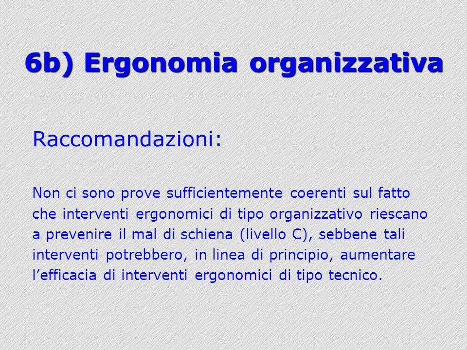 6b) Ergonomia organizzativa
