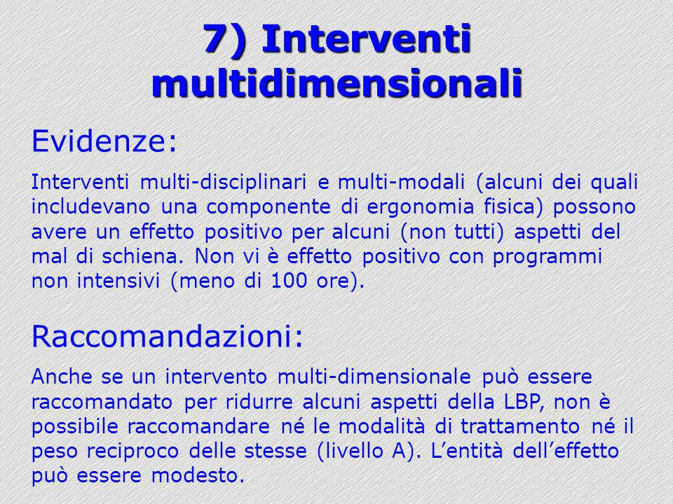 7) Interventi multidimensionali