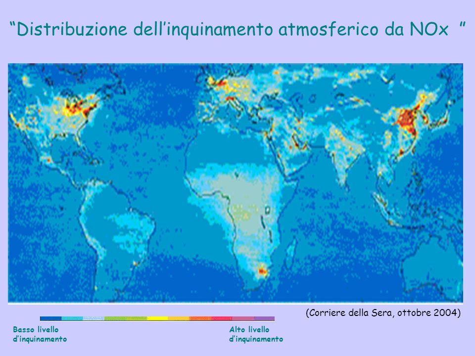 Distribuzione dell'inquinamento atmosferico da NOx