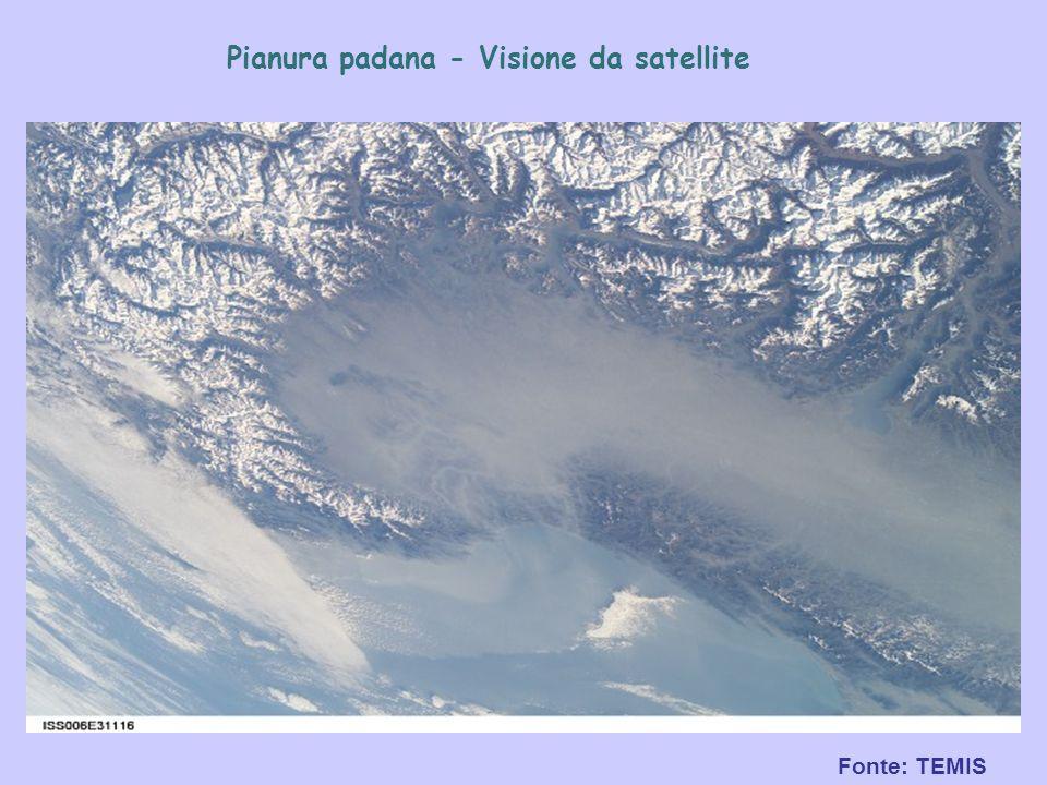 Pianura padana - Visione da satellite