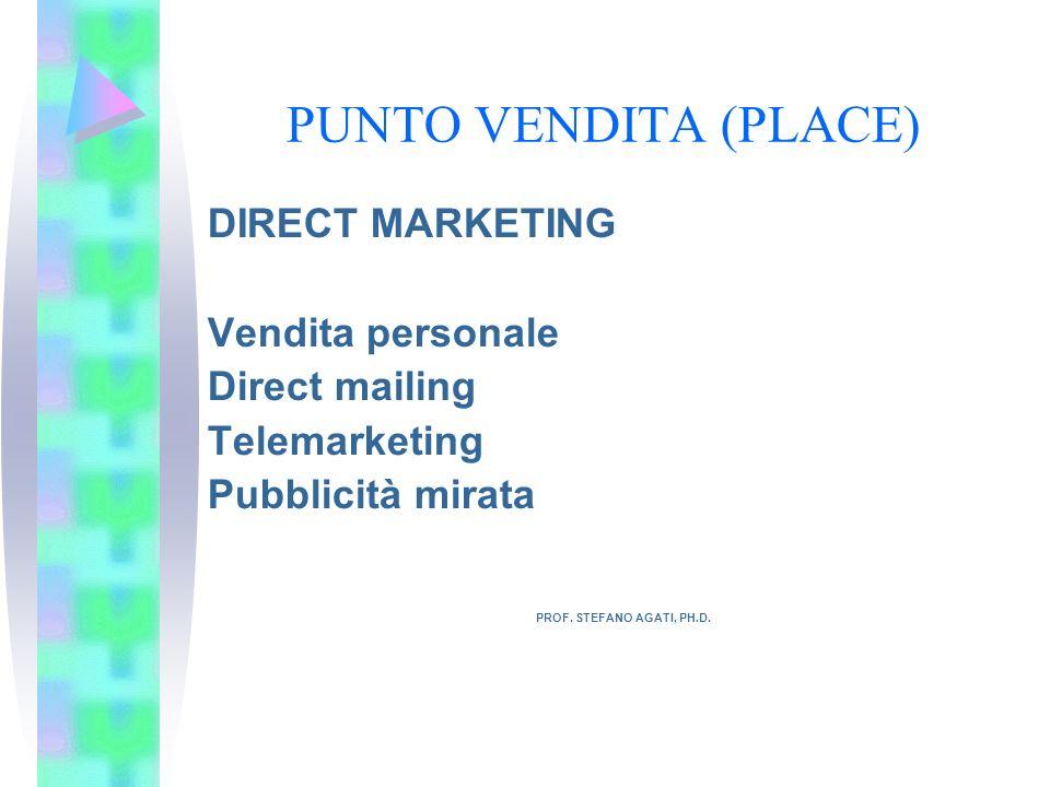 PUNTO VENDITA (PLACE) DIRECT MARKETING PROF. STEFANO AGATI, PH.D.
