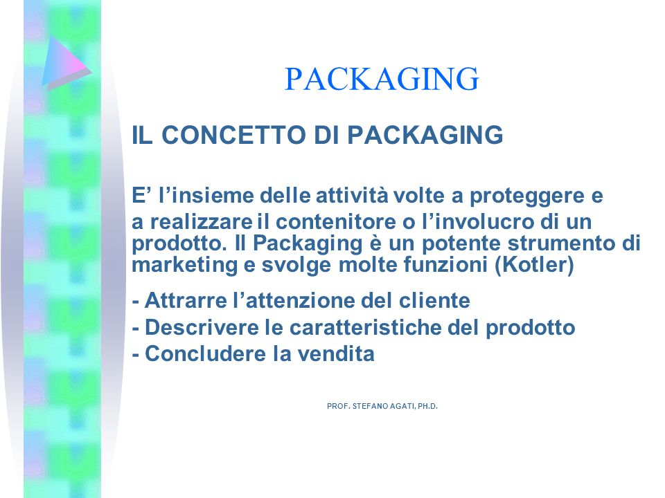 PACKAGING IL CONCETTO DI PACKAGING