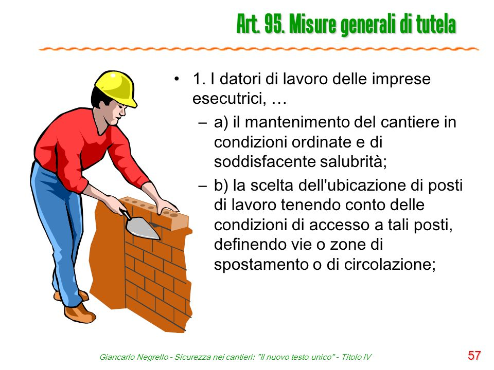 Art. 95. Misure generali di tutela