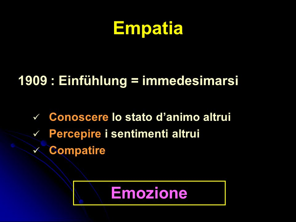 Empatia Emozione 1909 : Einfühlung = immedesimarsi
