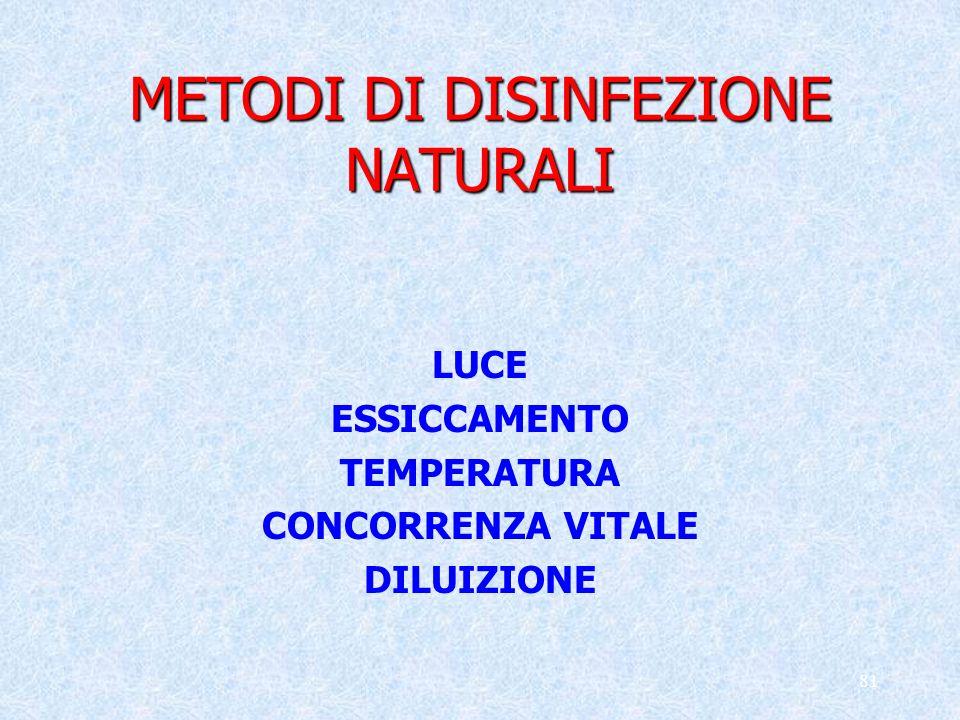 METODI DI DISINFEZIONE NATURALI
