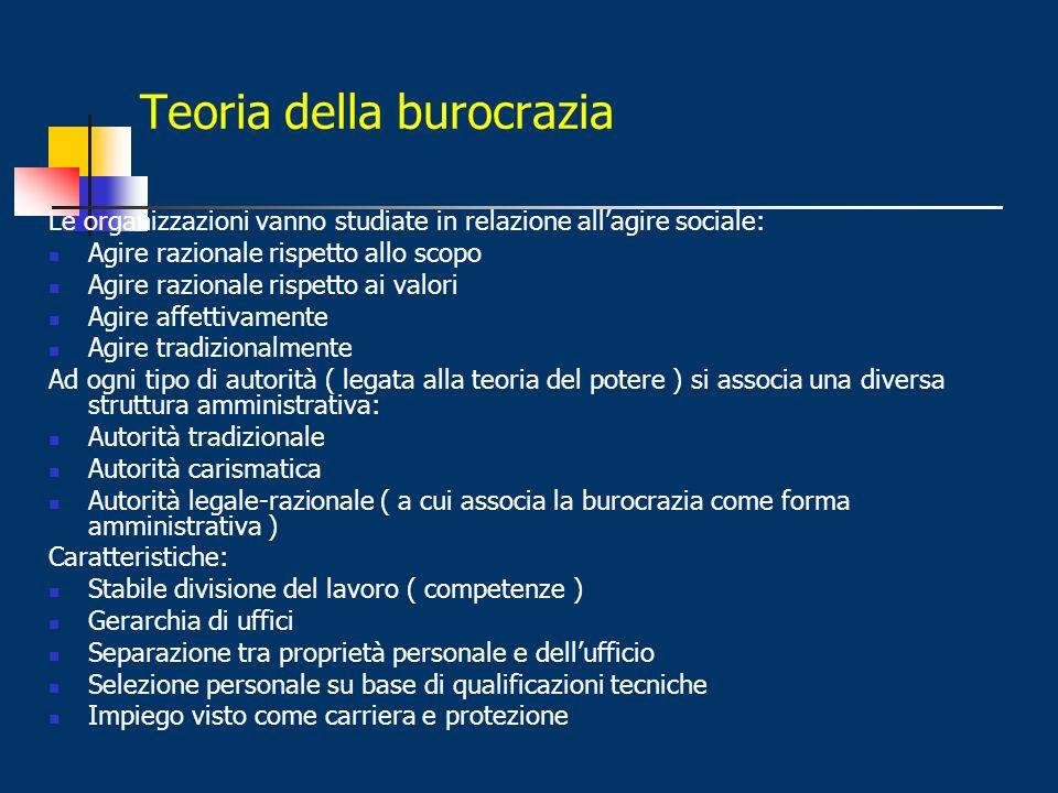 Teoria della burocrazia
