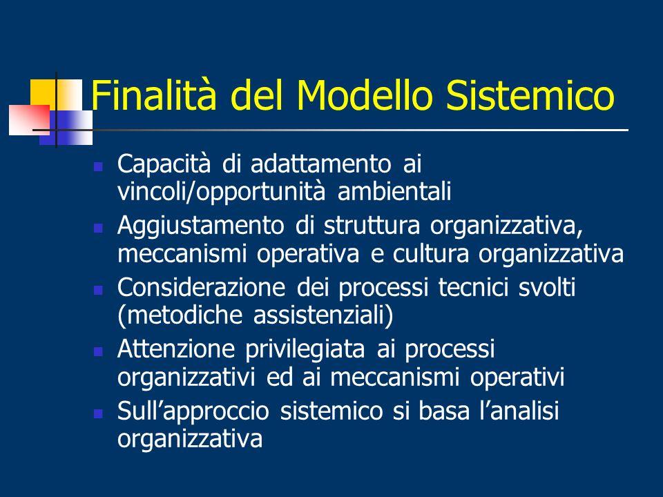 Finalità del Modello Sistemico