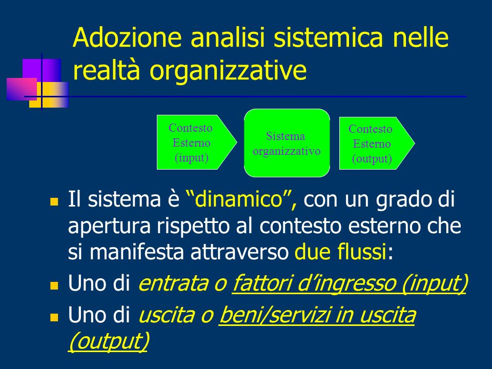 Adozione analisi sistemica nelle realtà organizzative