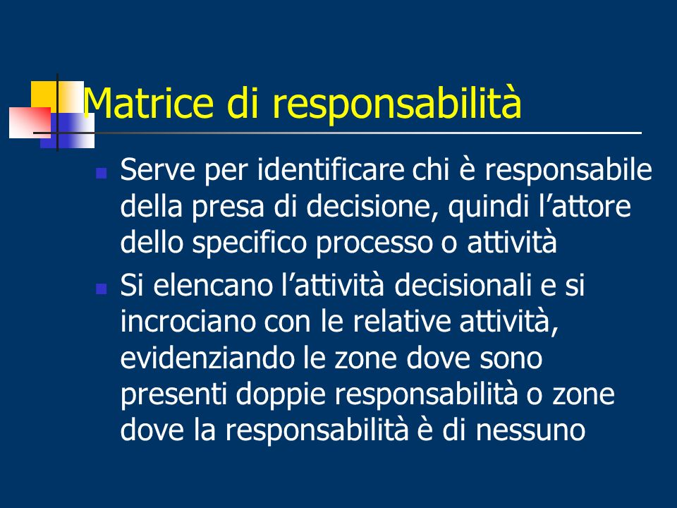 Matrice di responsabilità