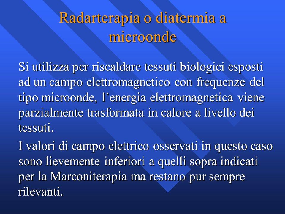 Radarterapia o diatermia a microonde