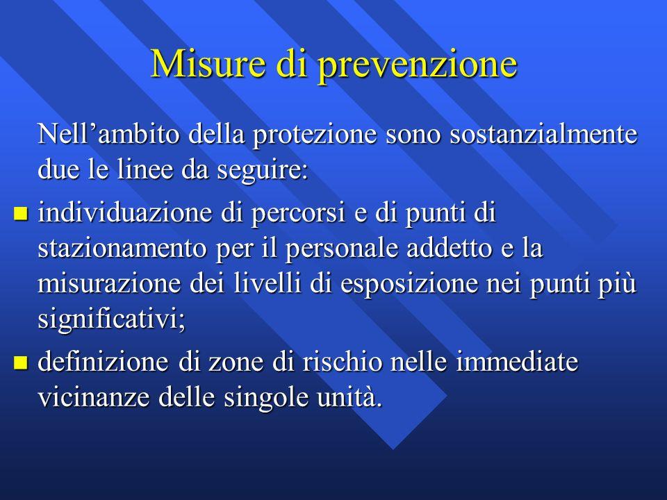 Misure di prevenzione Nell'ambito della protezione sono sostanzialmente due le linee da seguire: