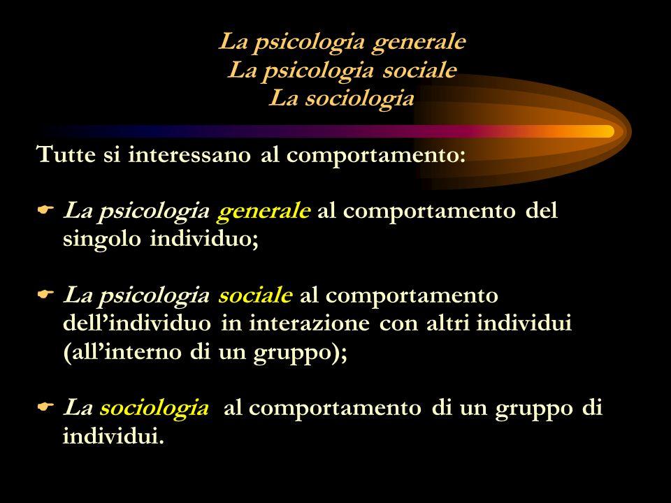 La psicologia generale