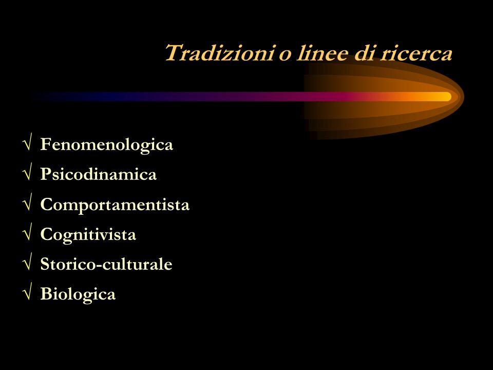 Tradizioni o linee di ricerca