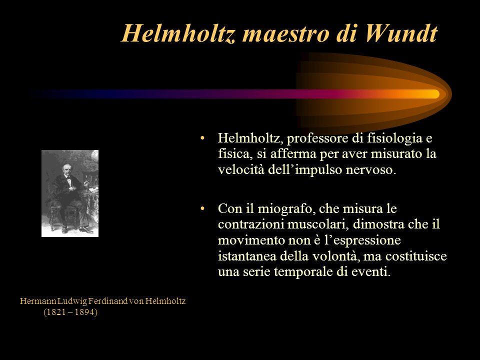 Helmholtz maestro di Wundt
