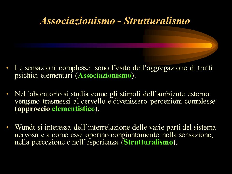 Associazionismo - Strutturalismo