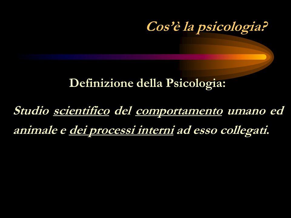 Definizione della Psicologia: