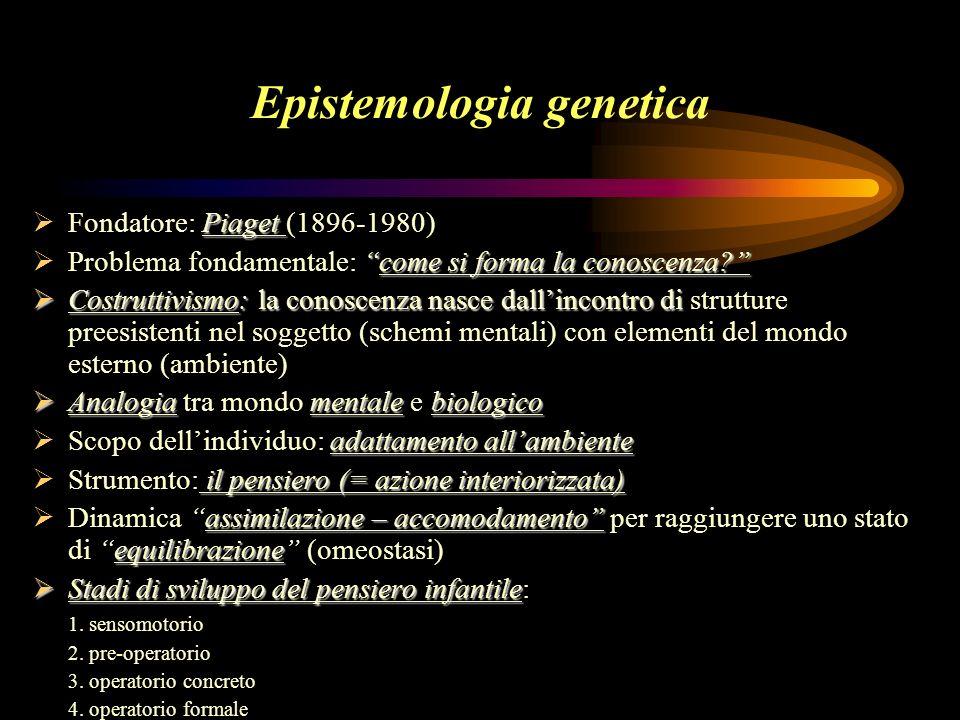 Epistemologia genetica