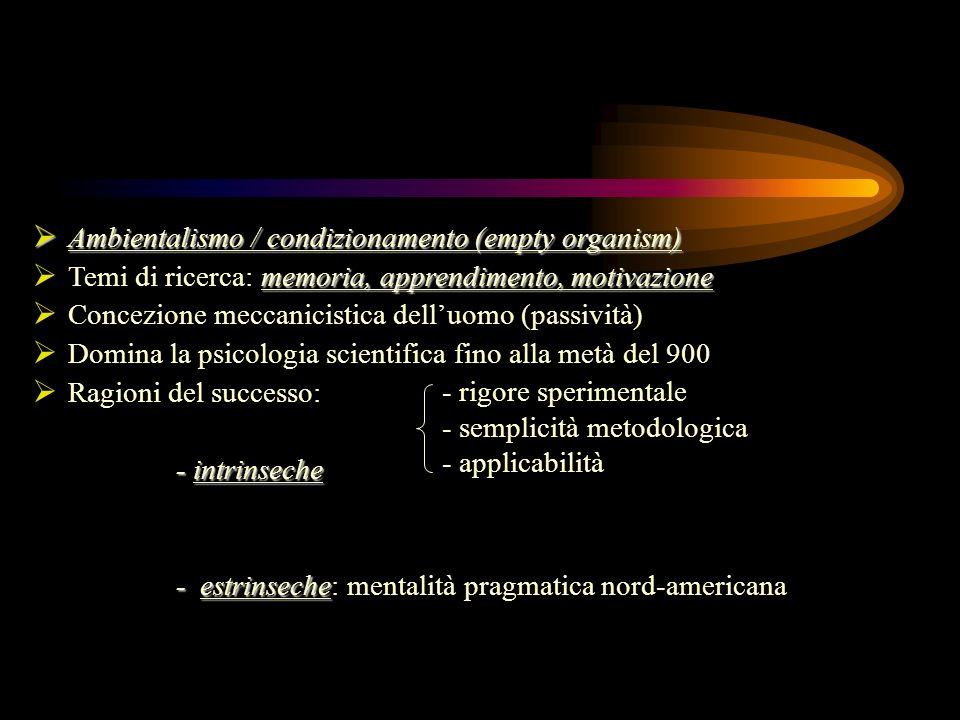Ambientalismo / condizionamento (empty organism)