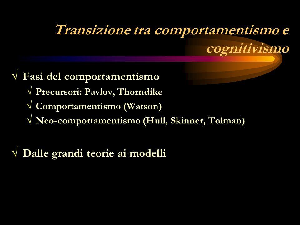 Transizione tra comportamentismo e cognitivismo