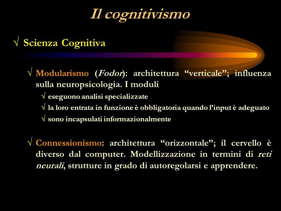 Il cognitivismo Scienza Cognitiva