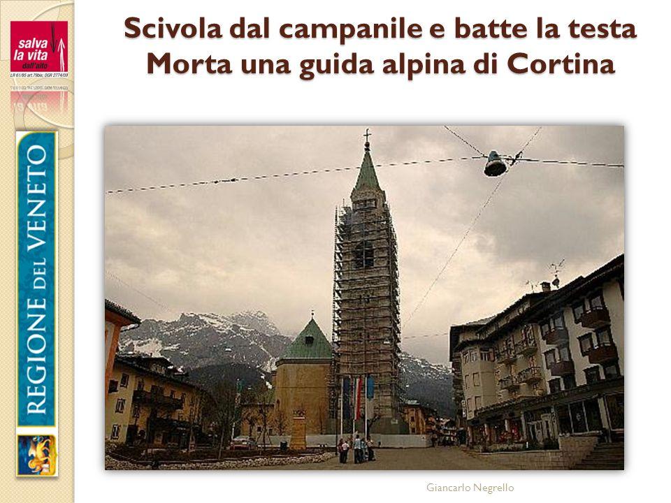 Scivola dal campanile e batte la testa Morta una guida alpina di Cortina