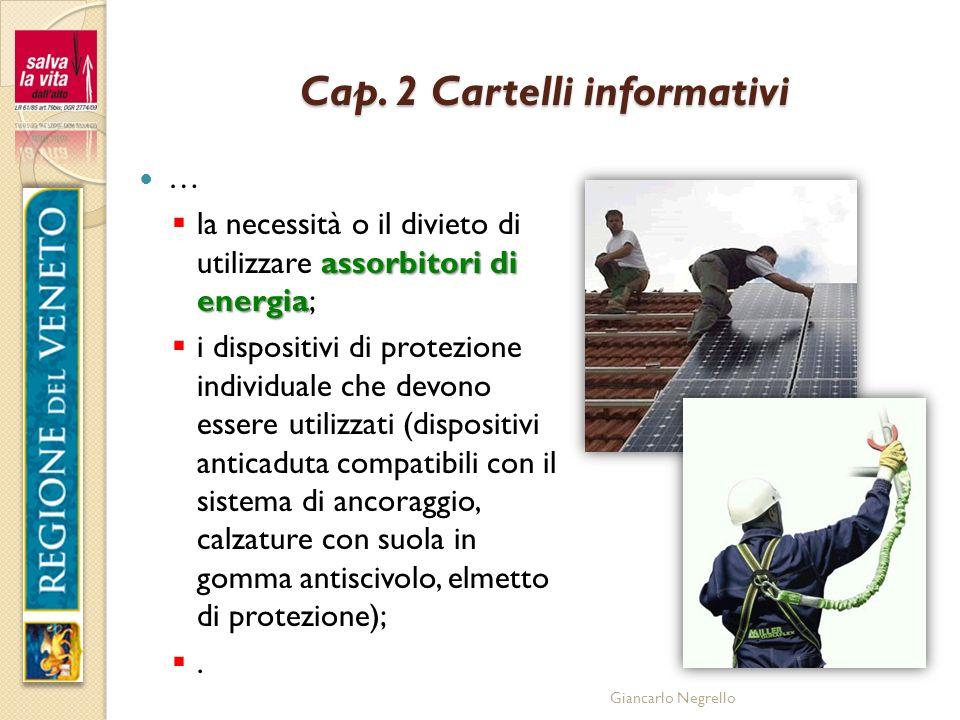 Cap. 2 Cartelli informativi