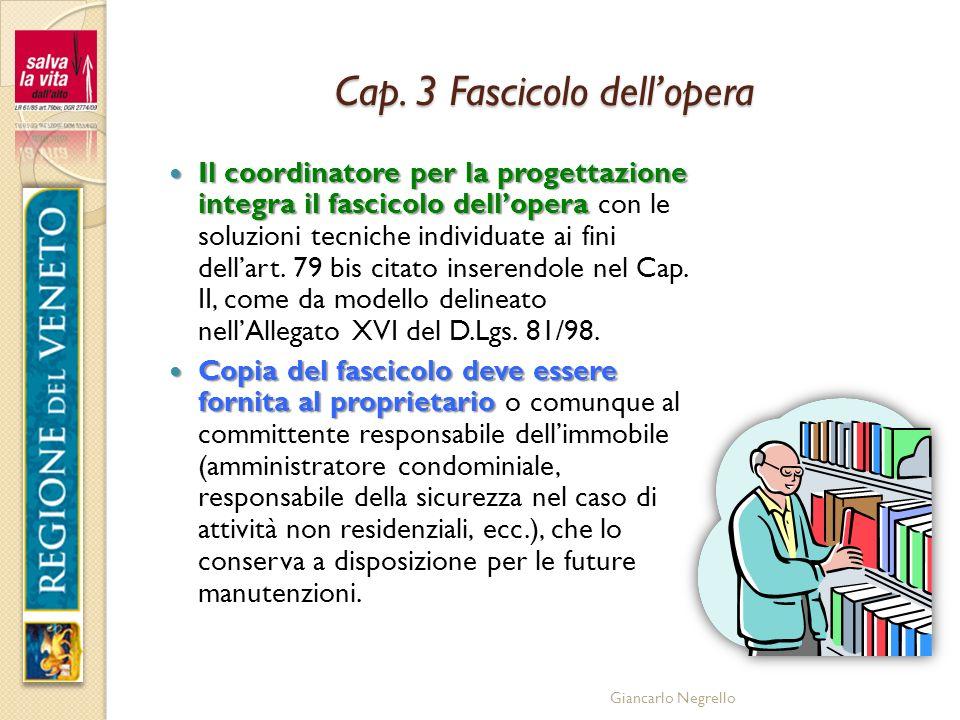 Cap. 3 Fascicolo dell'opera