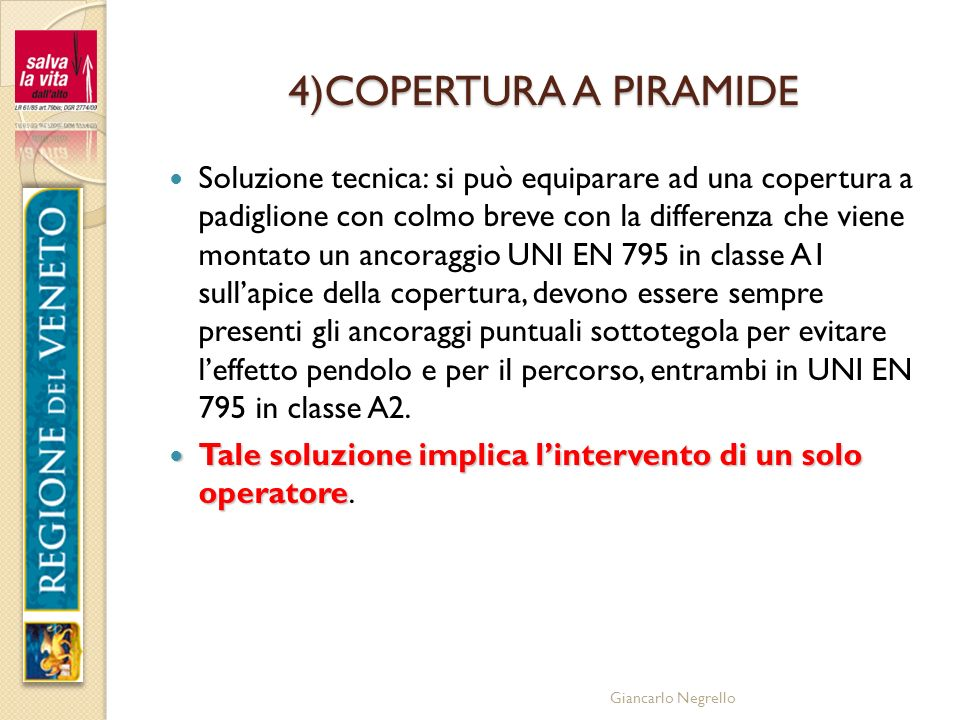 4)COPERTURA A PIRAMIDE