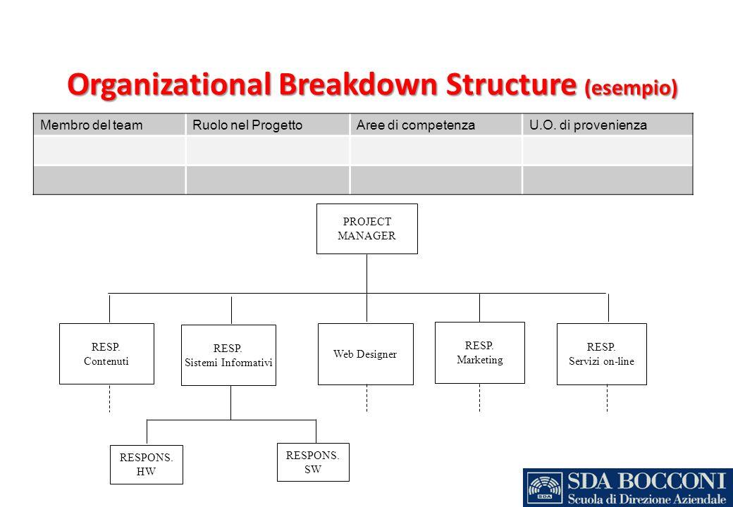 Organizational Breakdown Structure (esempio)