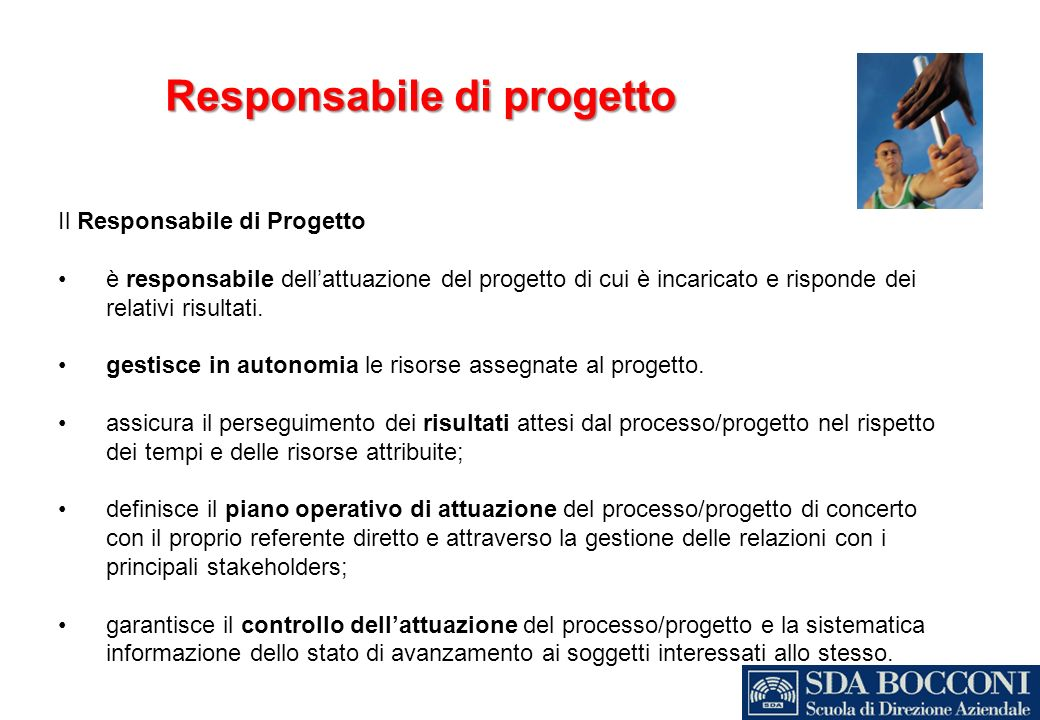 Responsabile di progetto