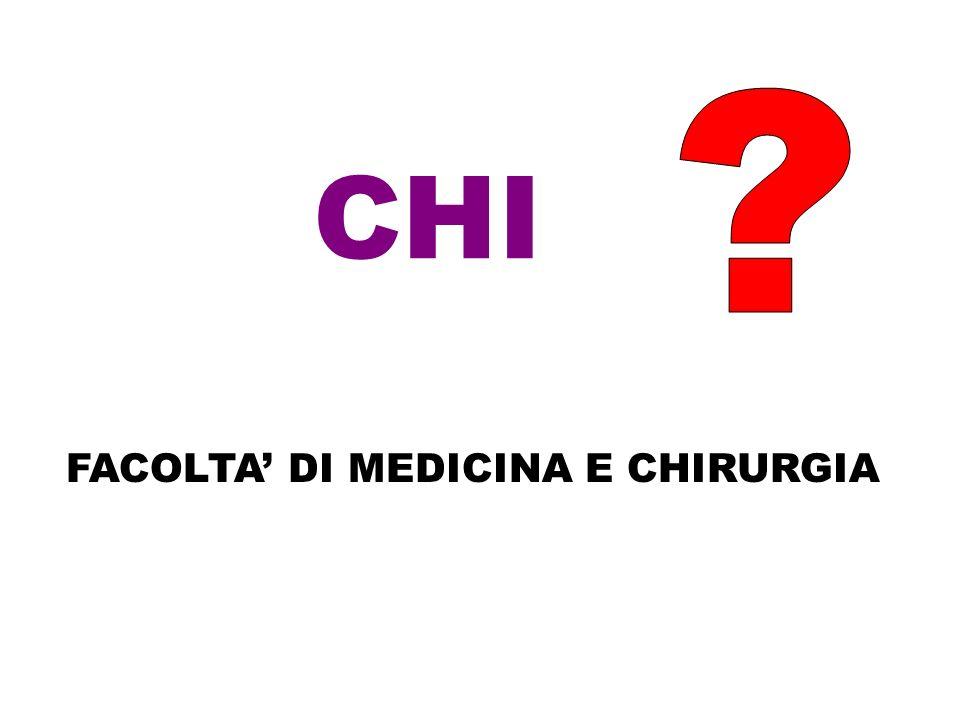 CHI FACOLTA' DI MEDICINA E CHIRURGIA