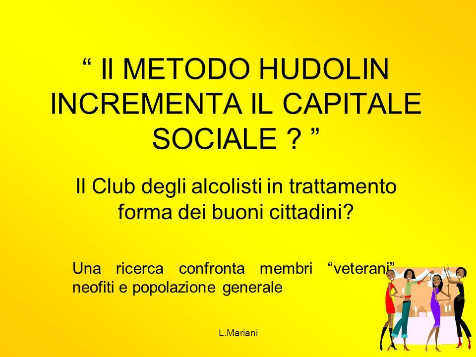 Il METODO HUDOLIN INCREMENTA IL CAPITALE SOCIALE