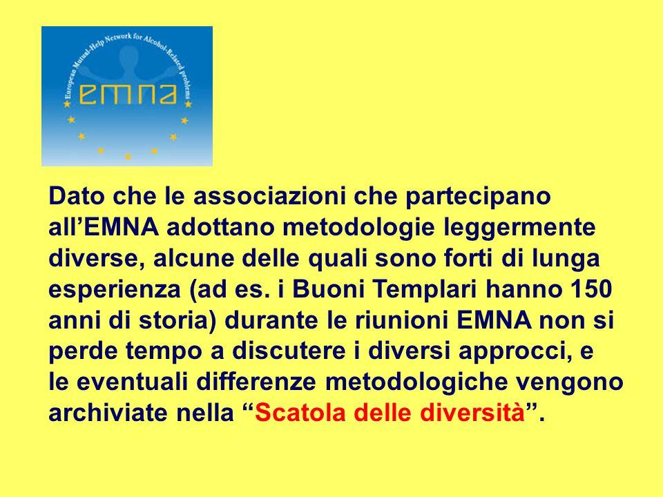 Dato che le associazioni che partecipano all'EMNA adottano metodologie leggermente diverse, alcune delle quali sono forti di lunga esperienza (ad es.